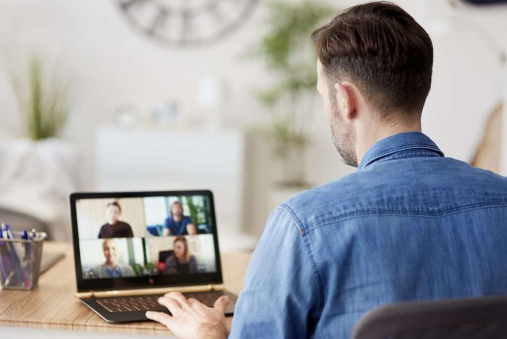 Video conference during home office